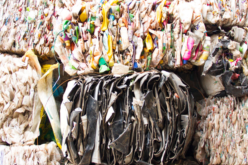 Plastic scrap for recycling