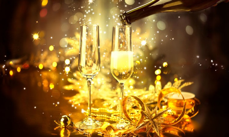 34992922 - new year celebration with champagne