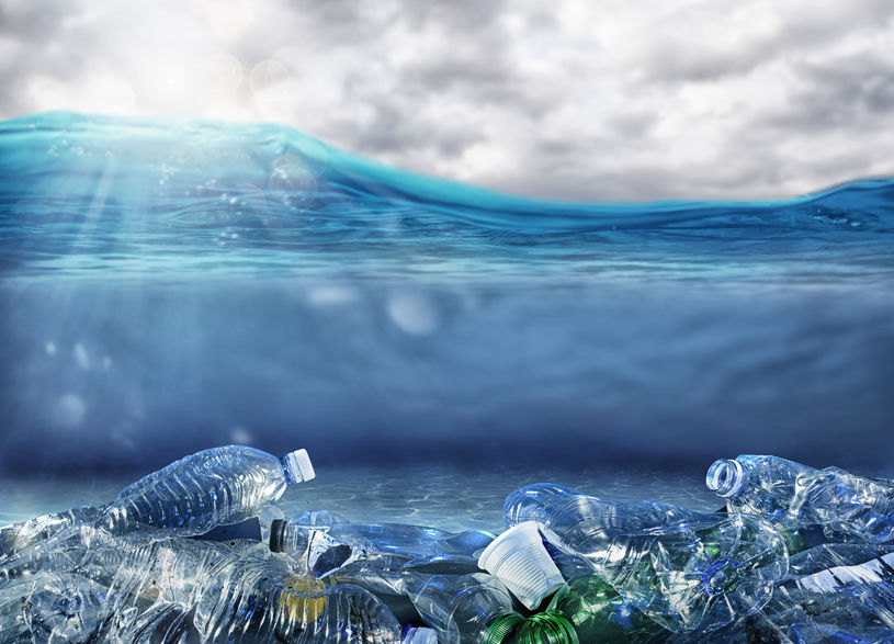 Worldwide problem of plastic pollution under the sea
